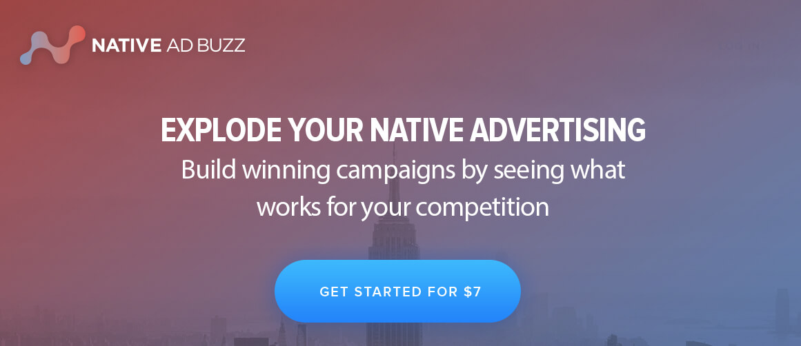 sign up to native ad buzz