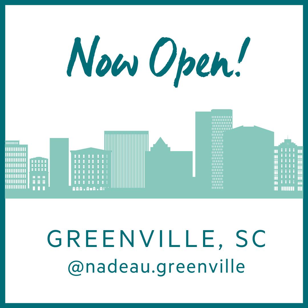 Follow us for updates @nadeau.greenville