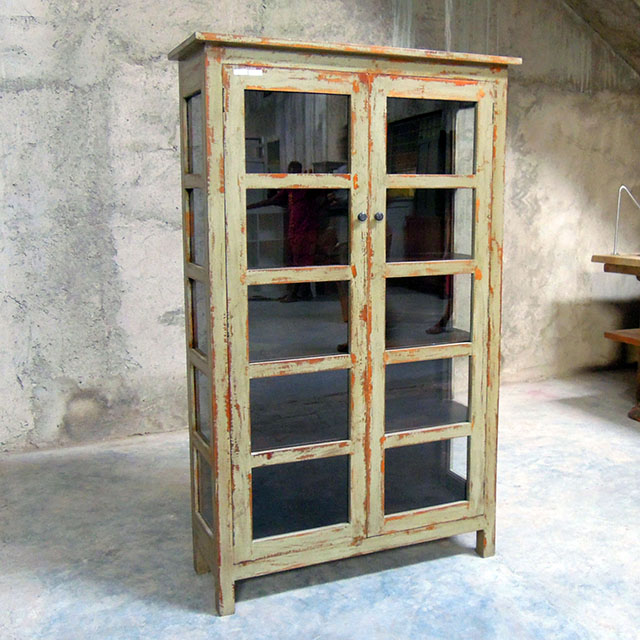 Two Door Glass Cabinet Nadeau Austin