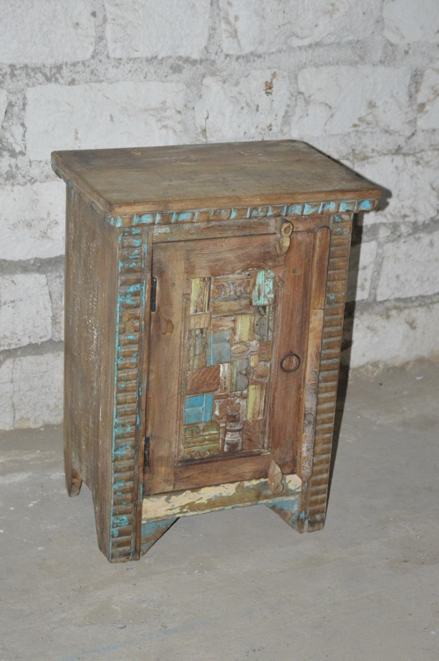 Ordinaire Reclaimed Wood Bedside Table
