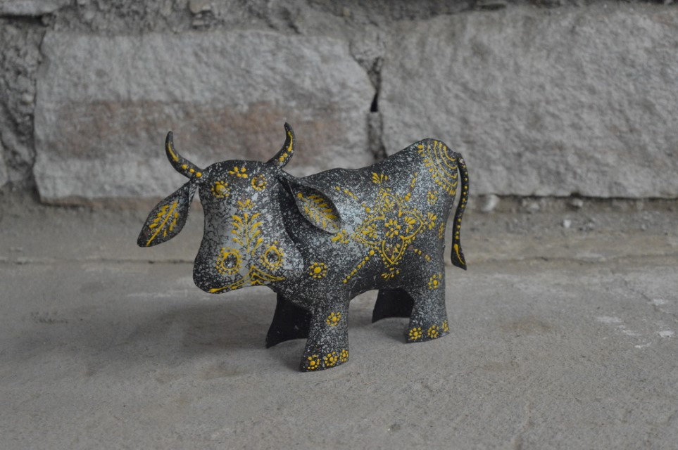 Iron Embossed Painted Cow Nadeau Little Rock