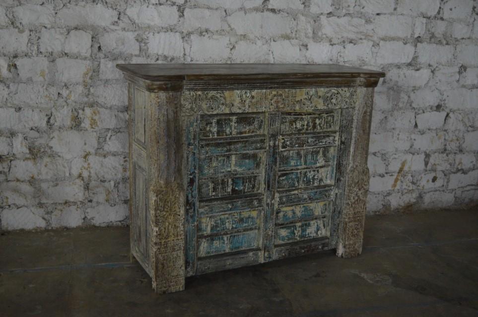 Carved Old Door Bar Counter Nadeau Huntsville