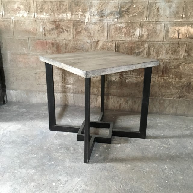 Iron And Wood Side Table Nadeau Atlanta