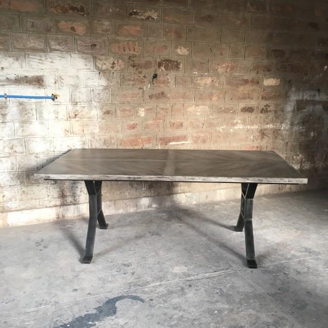 Bon Iron Leg Dining Table