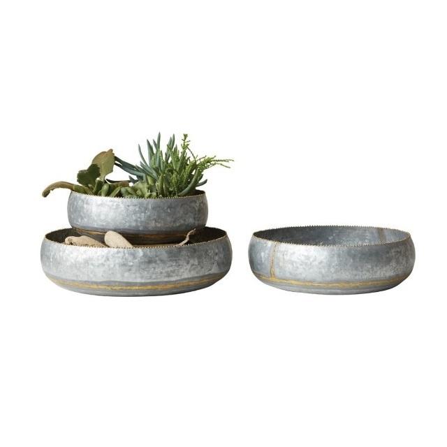 Galvanized Metal Bowls Nadeau Dallas