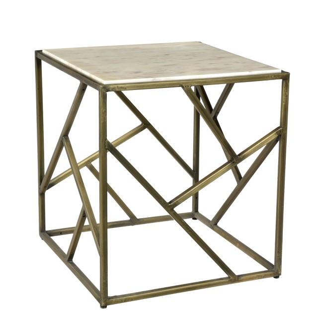 Iron U0026 Stone Side Table