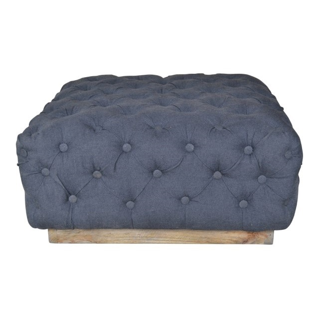 Surprising Square Tufted Ottoman Gmtry Best Dining Table And Chair Ideas Images Gmtryco