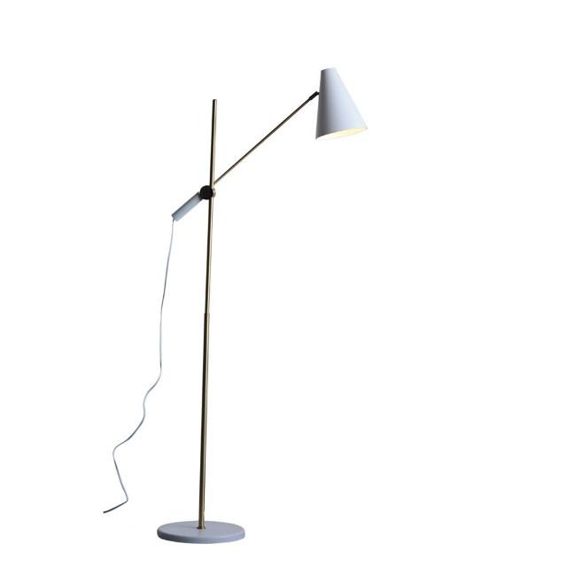 White Gold Metal Floor Lamp Nadeau Alexandria