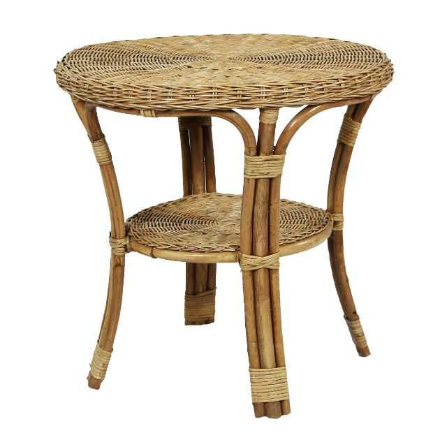 Rattan Side Table Nadeau Charlotte