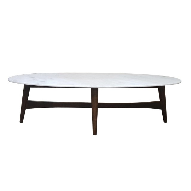 Charmant Mid Century Coffee Table With Marble Top