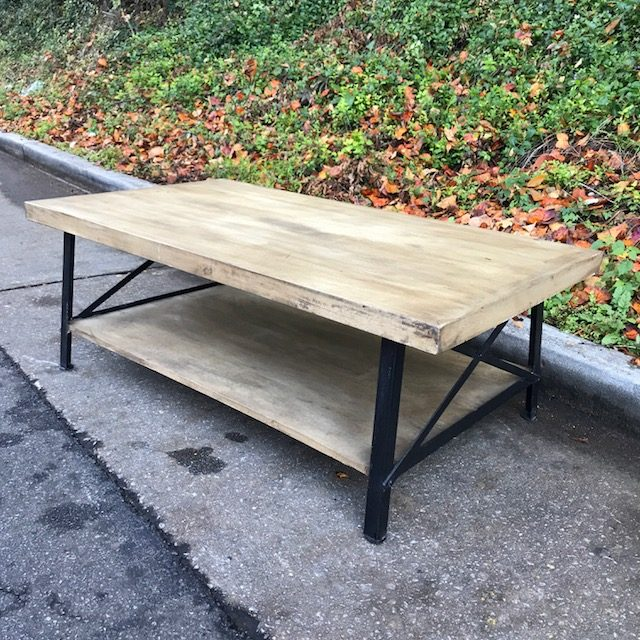 Iron And Wood Coffee Table Nadeau Atlanta - Picnic table atlanta