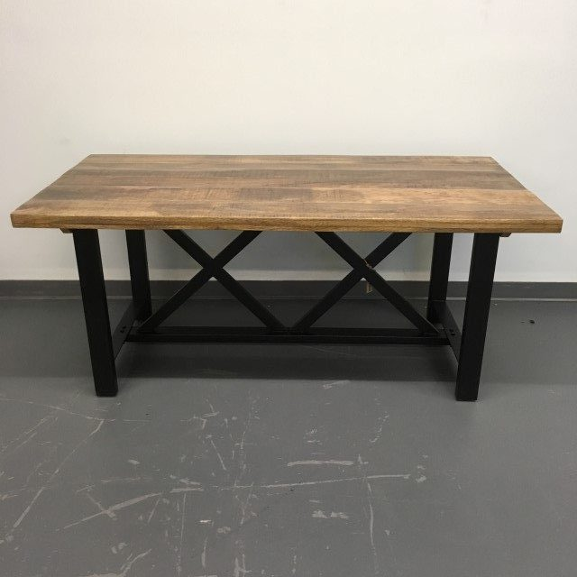Iron And Wood Dining Table Nadeau Baton Rouge