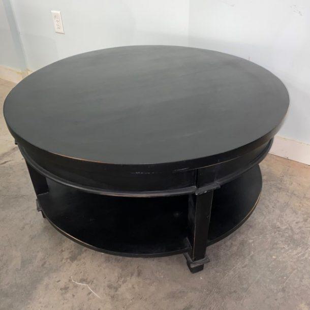 hampton round coffee table  nadeau baton rouge