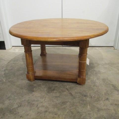 Round Coffee Table With Shelf Nadeau Charleston