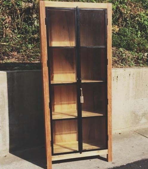 Metal And Wood Cabinet With Glass Doors Nadeau Charleston