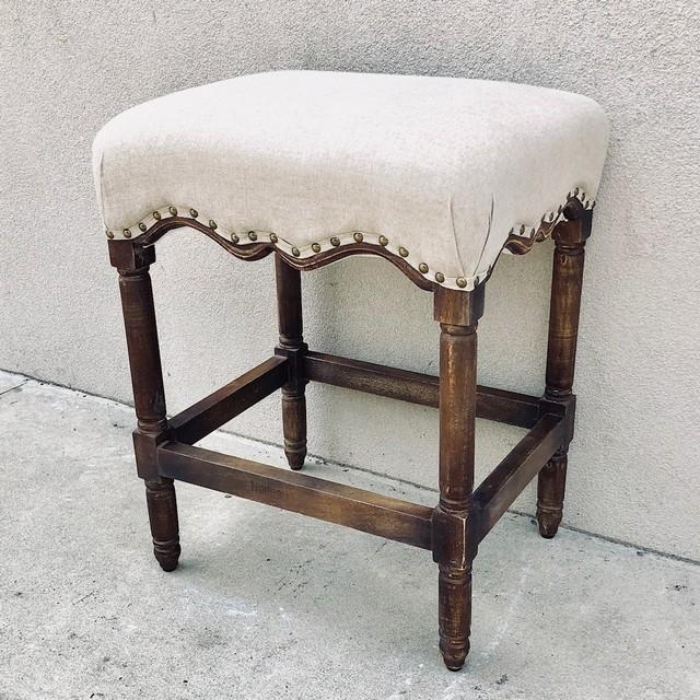 Upholstered Stool Nadeau Charleston