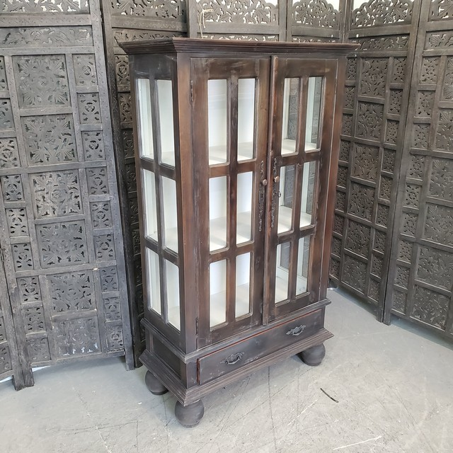 Small Gothic Cabinet With Bun Feet Nadeau Charlotte