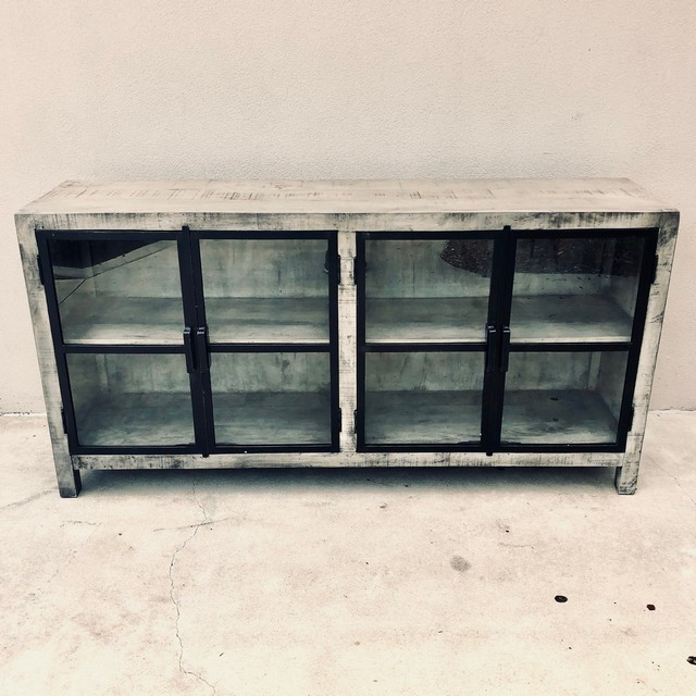 Iron And Wood Cabinet Nadeau Columbia