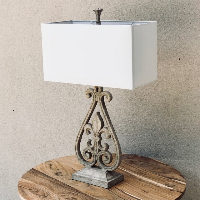 Fleur de lis table lamp nadeau columbia fleur de lis table lamp aloadofball Choice Image