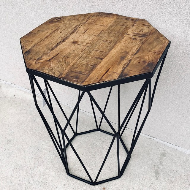 Iron Amp Wood Side Table Nadeau Columbia
