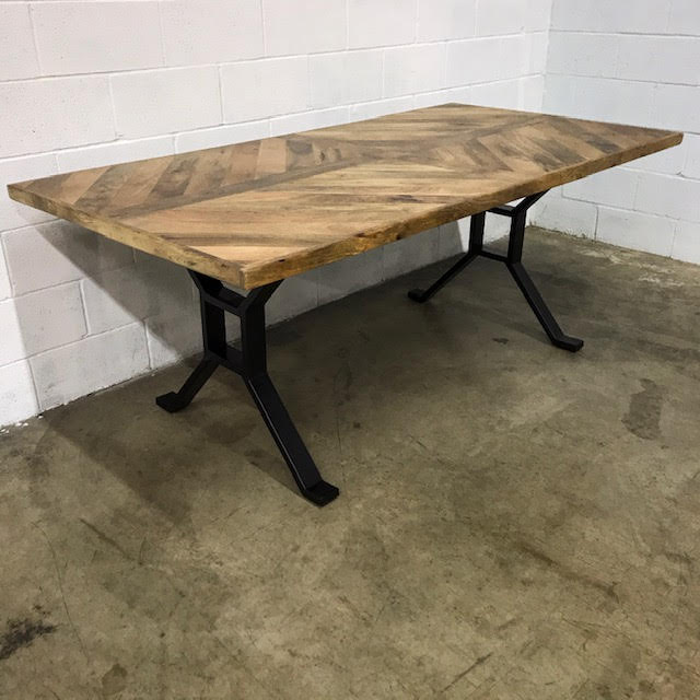 Iron Leg Dining Table Nadeau Dallas