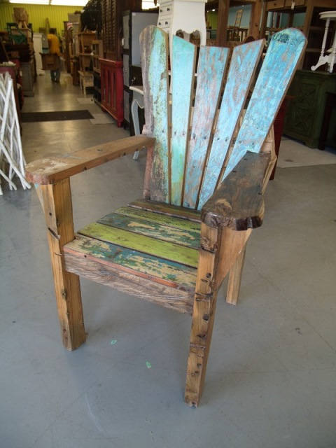Boat Wood Arm Chair Nadeau Houston