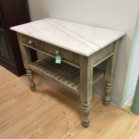Kitchen Island with Natural Stone Top