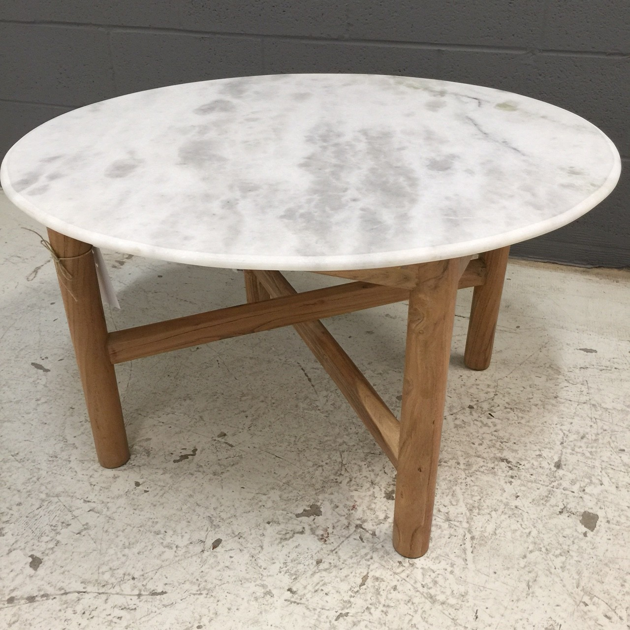 Klein Marble Coffee Table: Round Marble Coffee Table