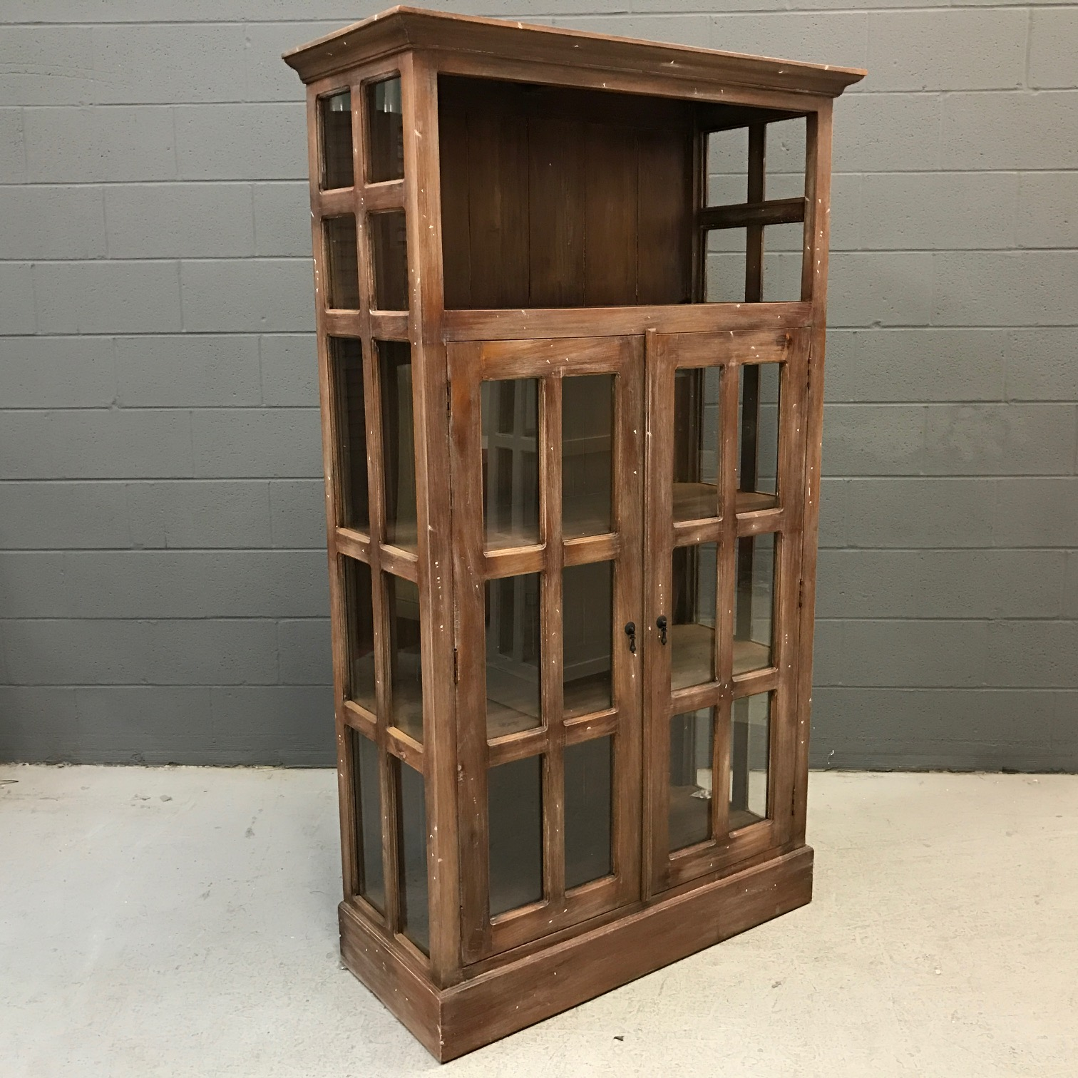 Glass Cabinet Open Top