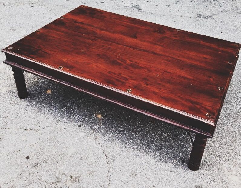 Large Traditional Indian Coffee Table