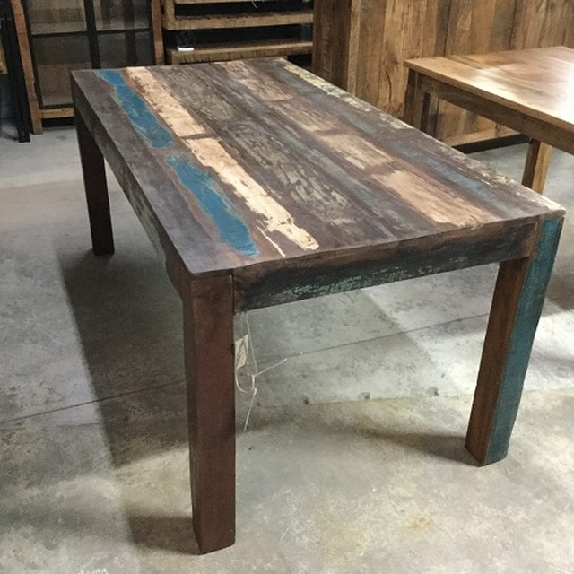 Build Your Own Coffee Table With Storage: Reclaimed Wood Dining Table