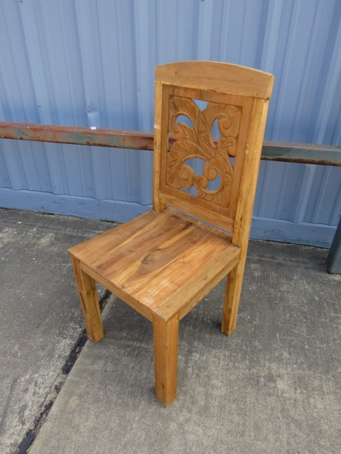Dining Chair Teak Wood Nadeau Paramus