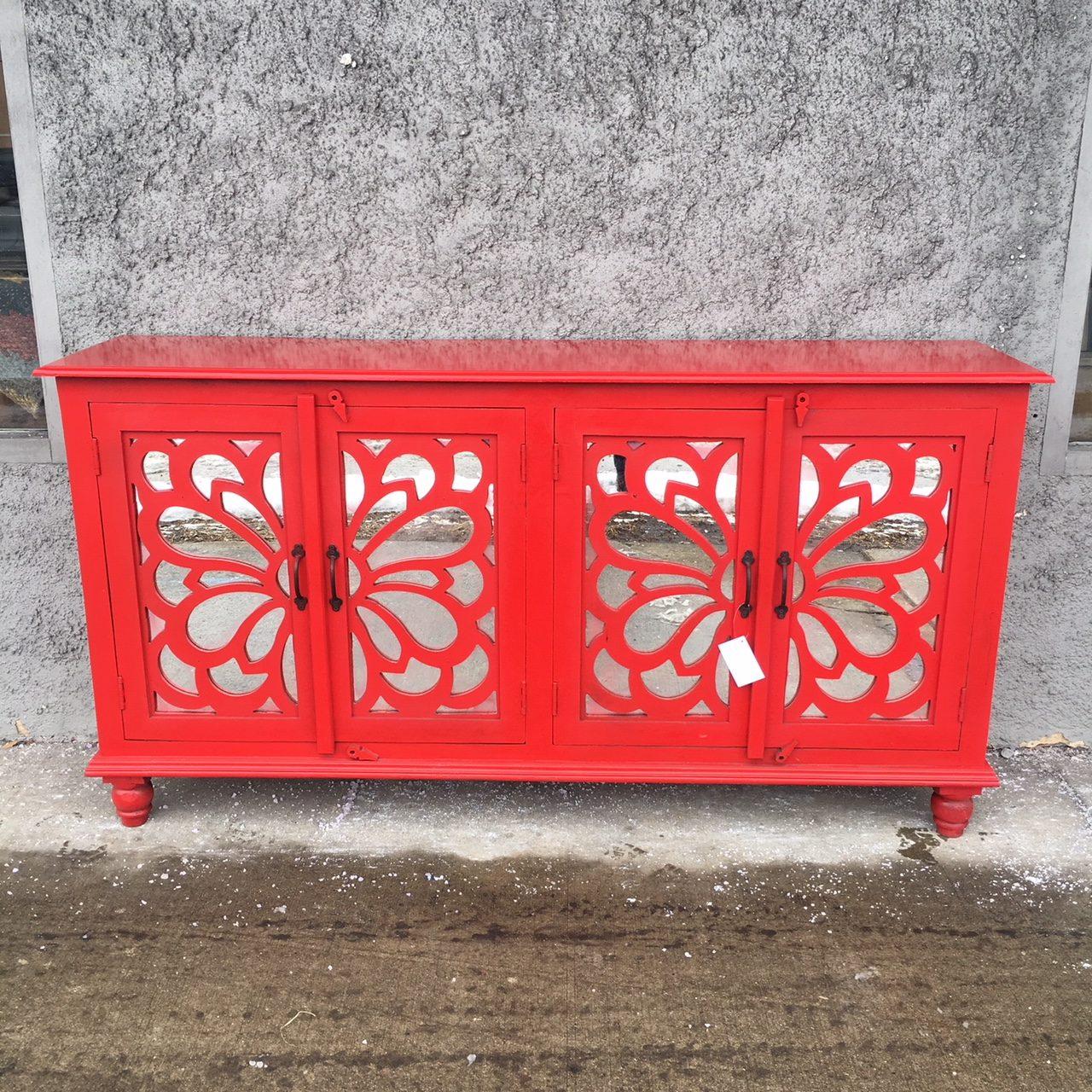 4 Door Mirrored Sideboard Nadeau Paramus