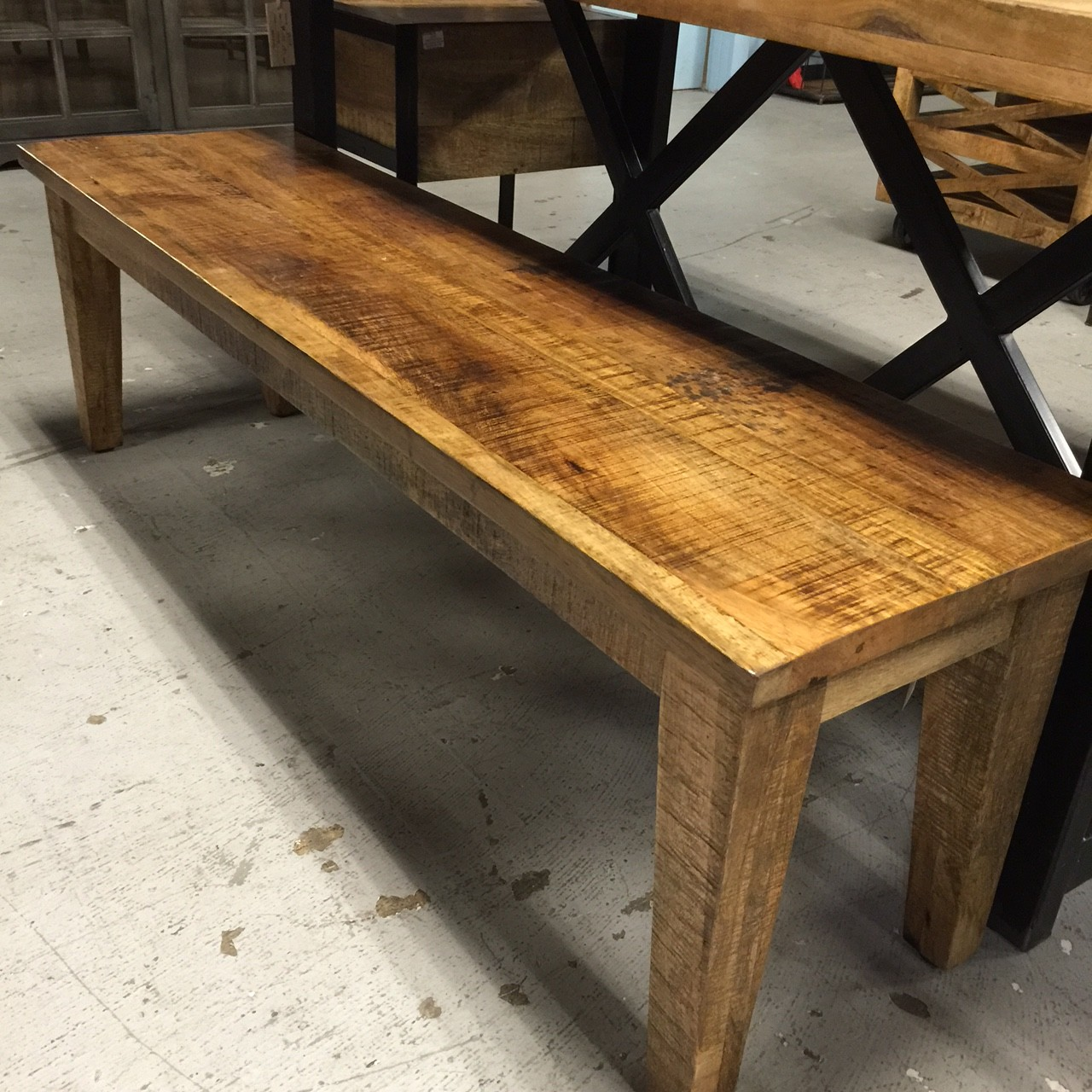 Wood Bench With Tapered Leg Nadeau Tampa
