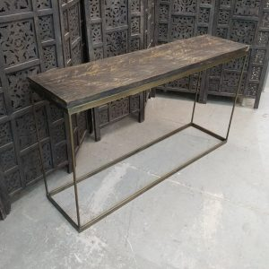 Iron And Wood Console Table Nadeau Huntsville