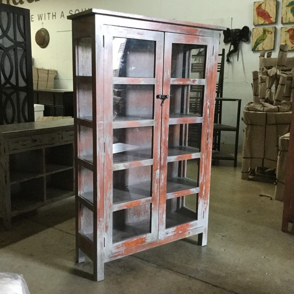 Two Door Glass Cabinet Nadeau Miami