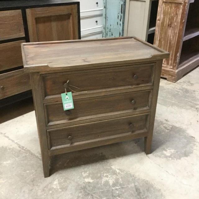 Milano Side Table With Three Drawers