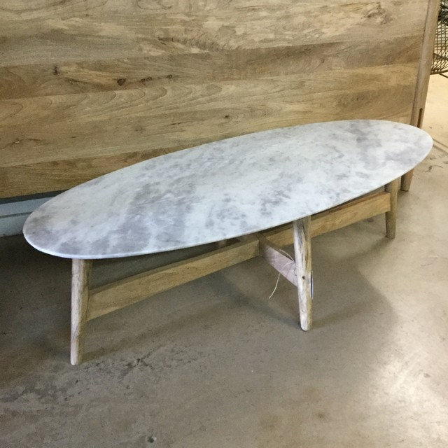 Etonnant Mid Century Coffee Table With Marble Top