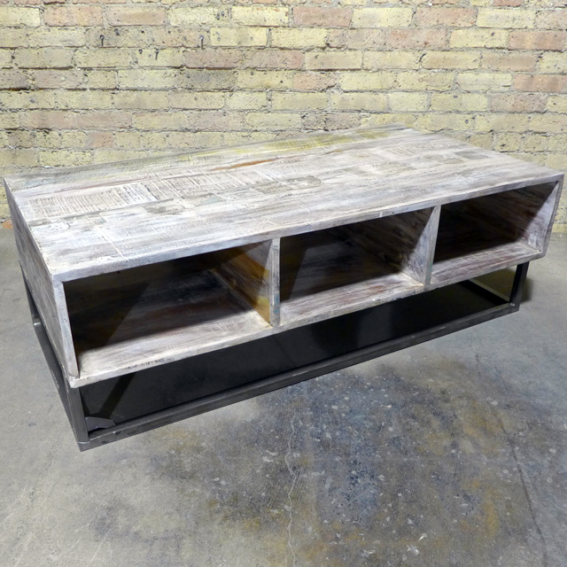 Coffee Table Reclaimed Wood Nadeau Chicago - Reclaimed wood coffee table chicago
