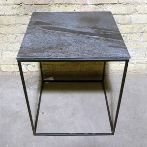 Slate Top Side Table