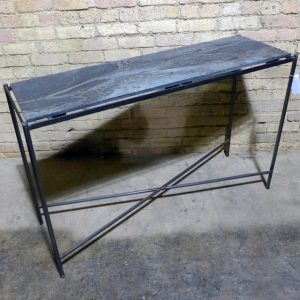 Charmant Iron Console With Slate Top