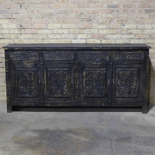 Carved Four Drawer Four Door Sideboard Nadeau Chicago