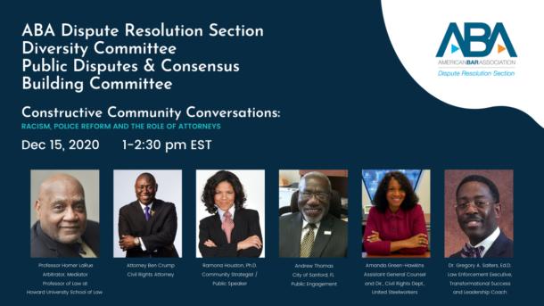 Constructive Community Conversations promo flyer