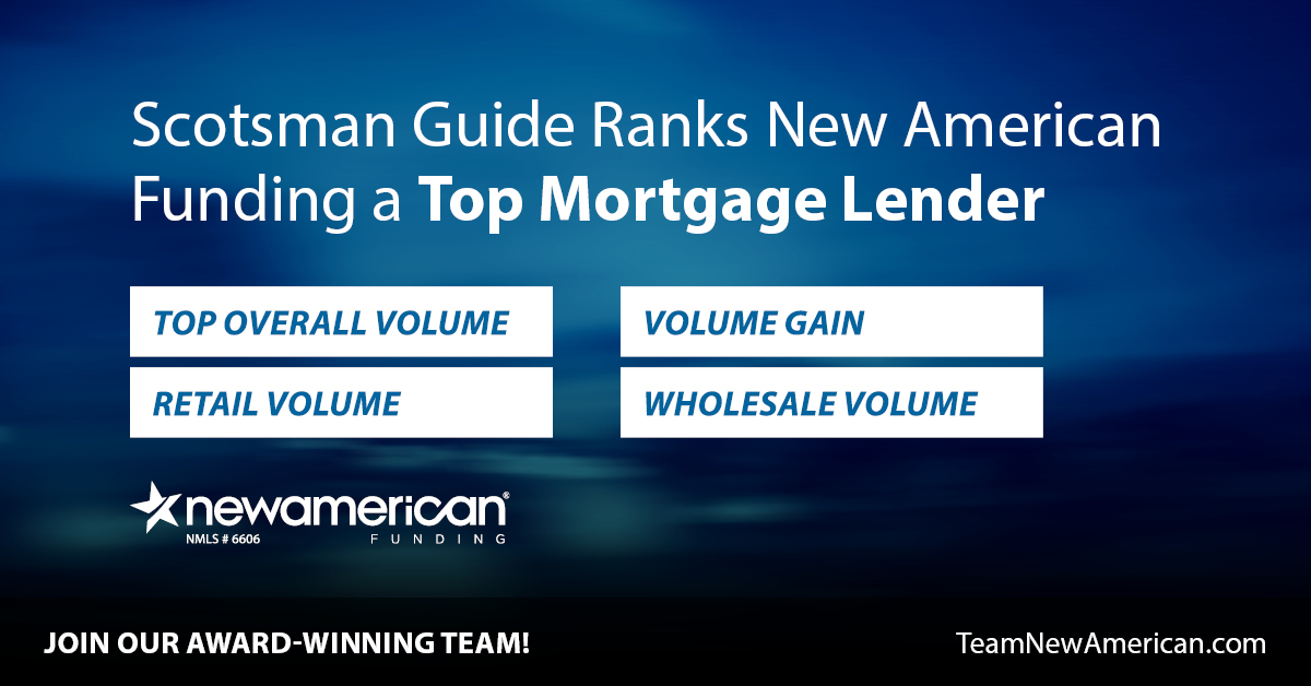 Scotsman Guide Ranks New American Funding a Top Mortgage Lender