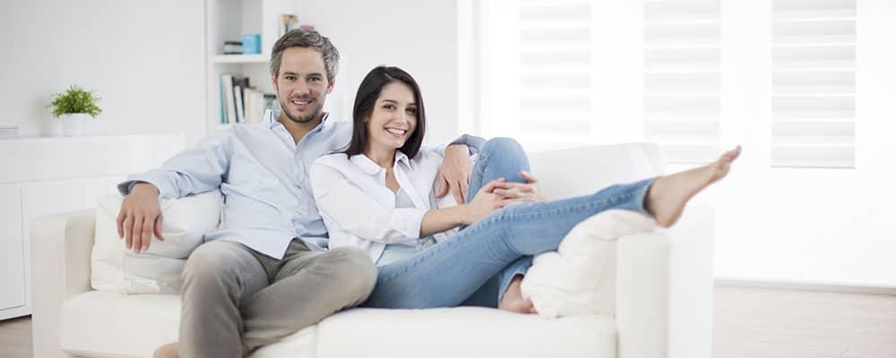 couple sitting on the sofa