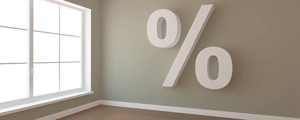 percentage sign on the wall