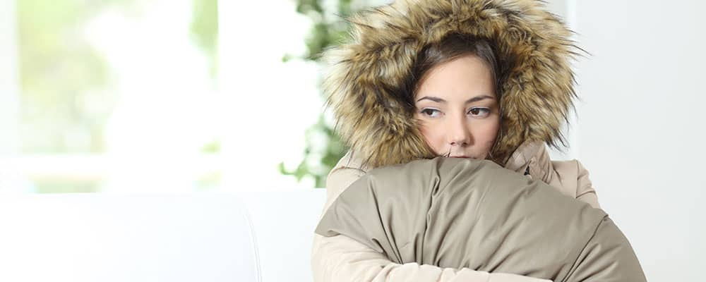 woman in a parka