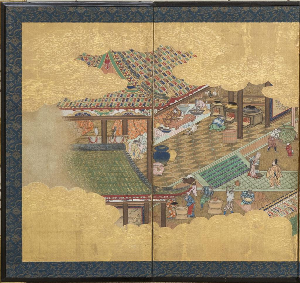 Japanese Six Panel Screen: Hina-matsuri (Doll Festival Screen) – A