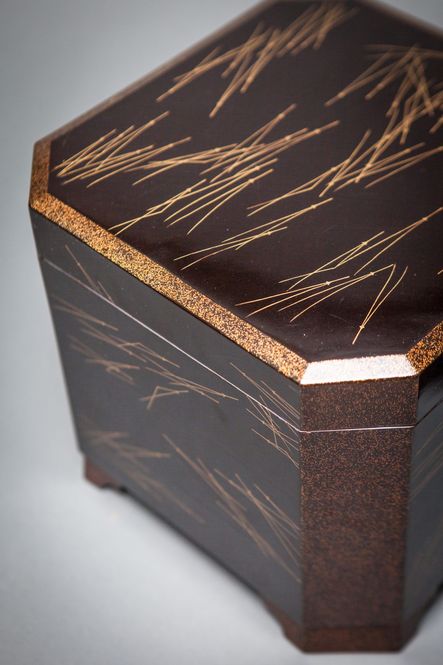 Japanese Black Lacquer Box