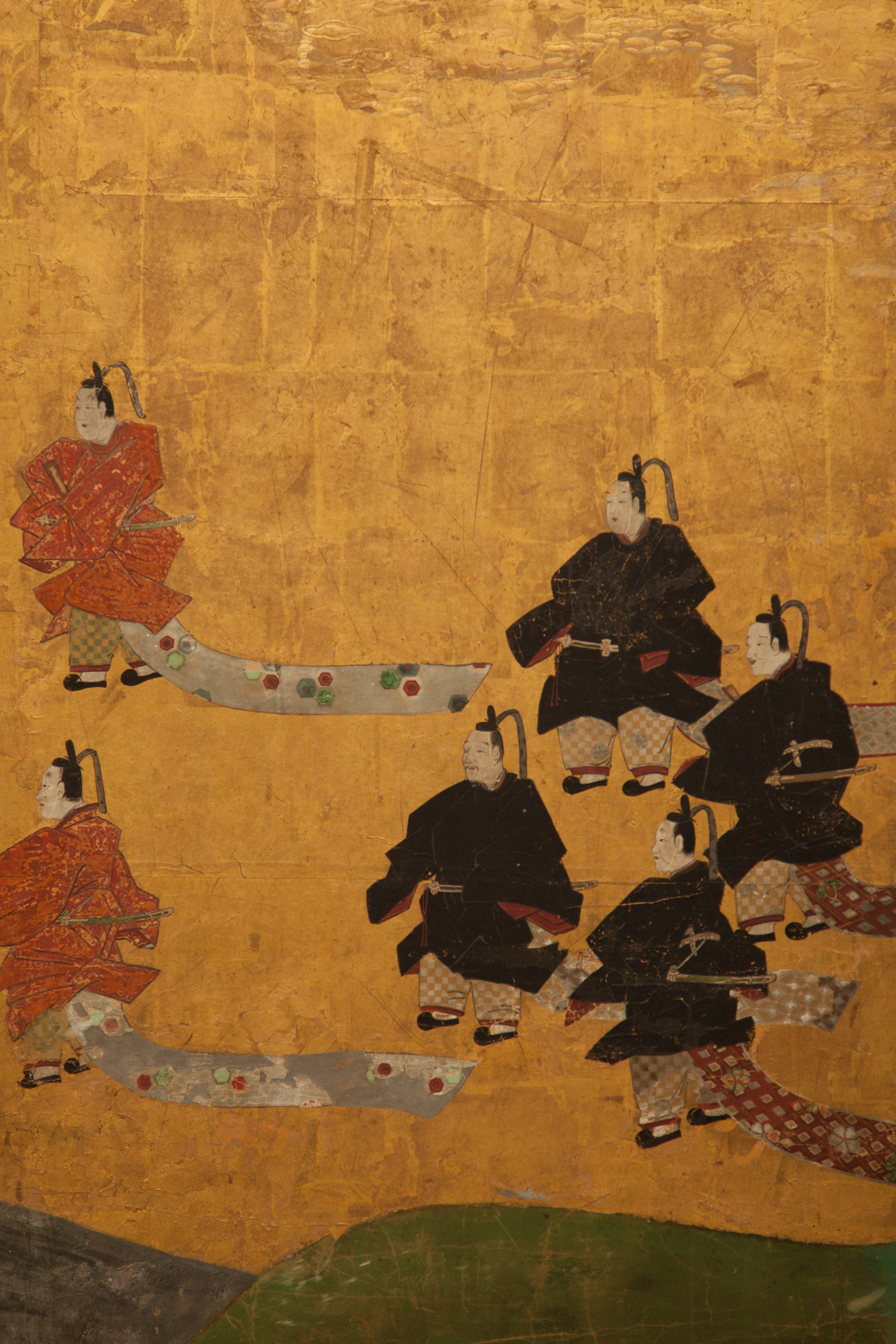 Japanese Six Panel Screen: Courtiers Festival